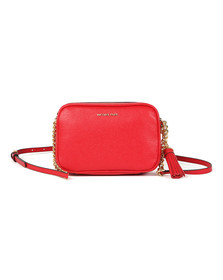 Michael Kors Womens Red Ginny Mid Camera Bag