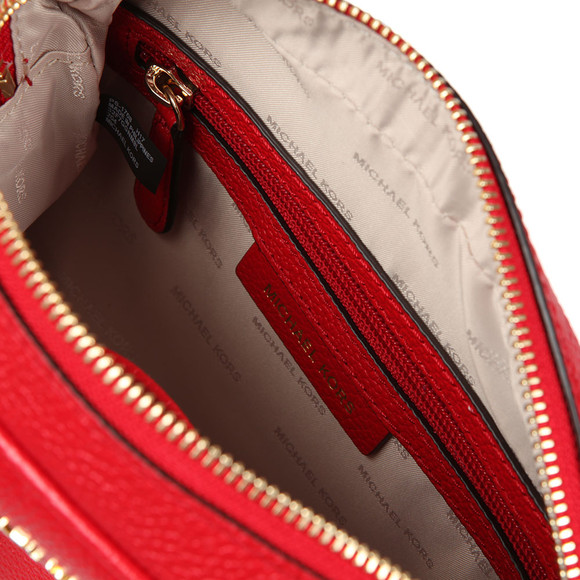 Michael Kors Womens Red Ginny Mid Camera Bag main image