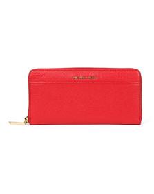 Michael Kors Womens Red Mercer Pocket Zip Around Continental Purse