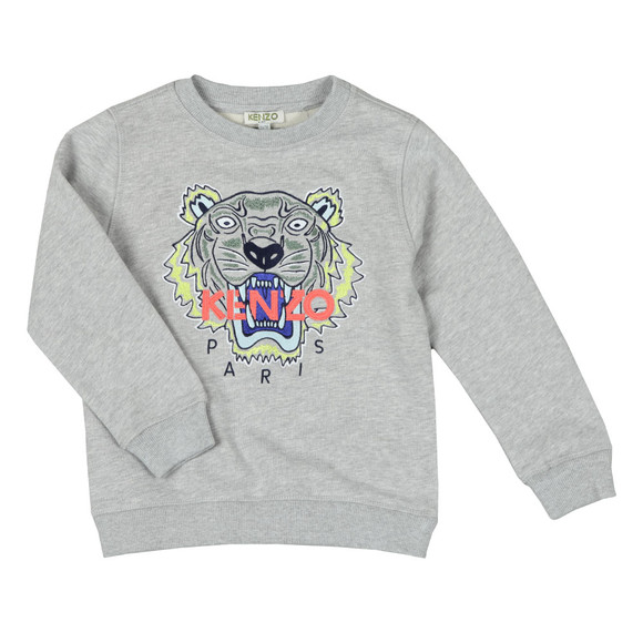Kenzo Kids Boys Grey Tiger Sweatshirt main image