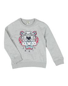 Kenzo Kids Girls Grey Tiger Sweatshirt
