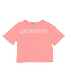 Kenzo Kids Girls Orange Stripe Logo Tee