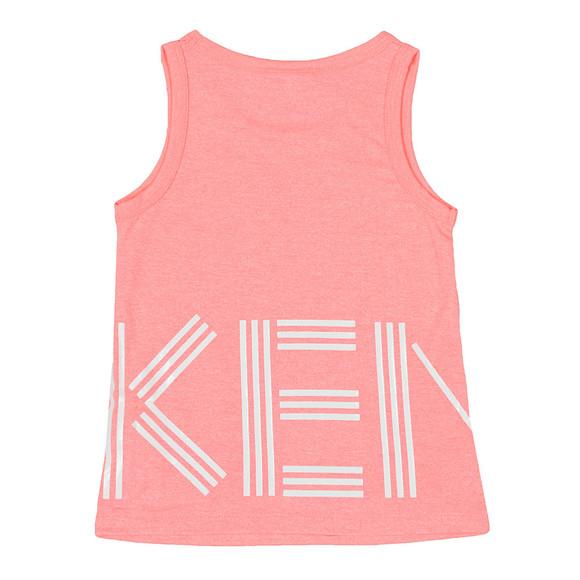Kenzo Kids Girls Orange Large Logo Vest