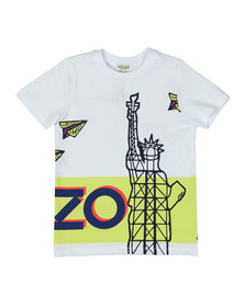 Kenzo Kids Boys White New York Print T Shirt
