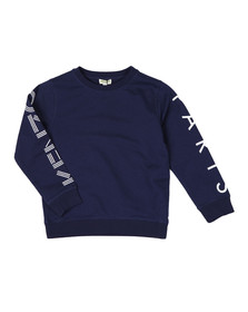 Kenzo Kids Boys Blue Sleeve Logo Sweatshirt