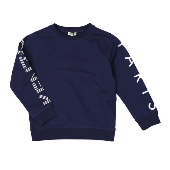 Kenzo Kids Boys Blue Sleeve Logo Sweatshirt main image