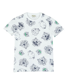 Kenzo Kids Boys White Tiger & Lion T Shirt