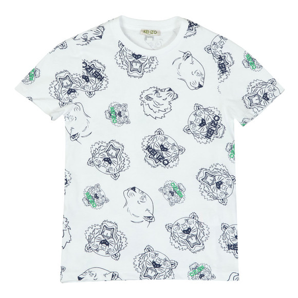 Kenzo Kids Boys White Tiger & Lion T Shirt main image