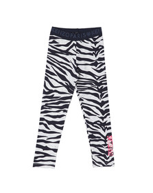 Kenzo Kids Girls Grey Zebra Leggings
