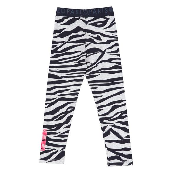Kenzo Kids Girls Grey Zebra Leggings
