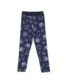 Kenzo Kids Girls Blue Tiger & Lion Leggings