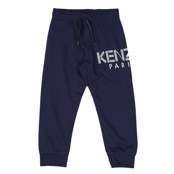 Kenzo Kids Boys Blue Side Logo Joggers main image