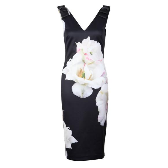 Ted Baker Womens Blue Soleia Gardenia Bow Shoulder Bodycon Dress main image