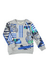 Kenzo Kids Boys Grey Tiger & Friends Sweatshirt