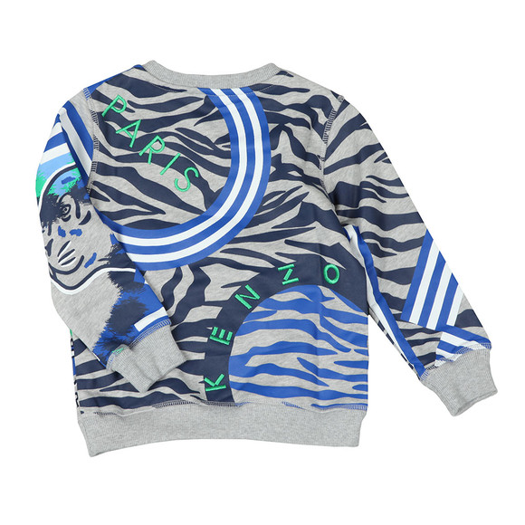 Kenzo Kids Boys Grey Tiger & Friends Sweatshirt main image
