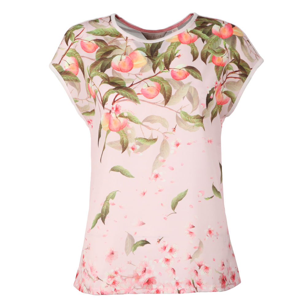 Roozie Peach Blossom Woven Front T Shirt main image
