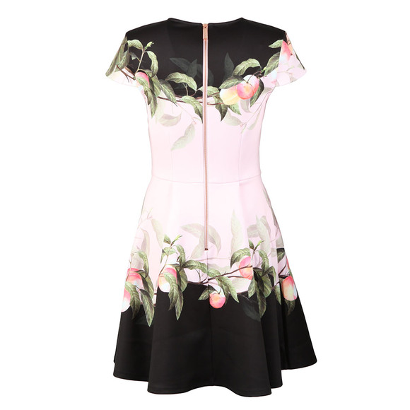 Ted Baker Womens Pink Antana Peach Blossom Jersey Skater Dress main image