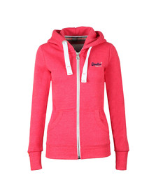 Superdry Womens Pink Orange Label Primary Zip Hoody