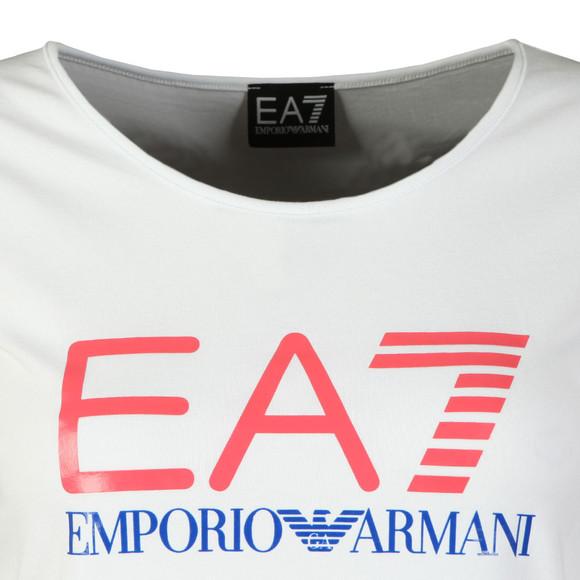 EA7 Emporio Armani Womens White Large Logo T Shirt main image