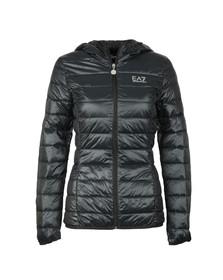 EA7 Emporio Armani Womens Black Small Logo Light Down Jacket