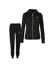 EA7 Emporio Armani Womens Black Gold Logo Track Suit