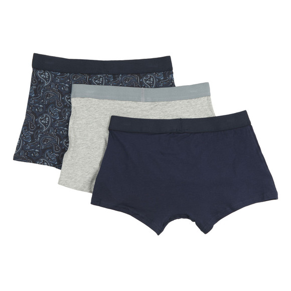 Pretty Green Mens Blue 3 Pack Boxer Set main image