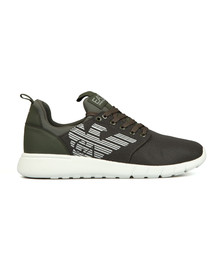 EA7 Emporio Armani Mens Green Simple Racer Trainer