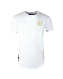 Sik Silk Mens White Curved Hem Slide T Shirt