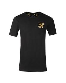 Sik Silk Mens Black Venetian Rolled Sleeve T Shirt
