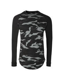 Sik Silk Mens Black Long Sleeve Raglan Gym T Shirt