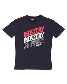 Diesel Boys Blue Large Logo T Shirt