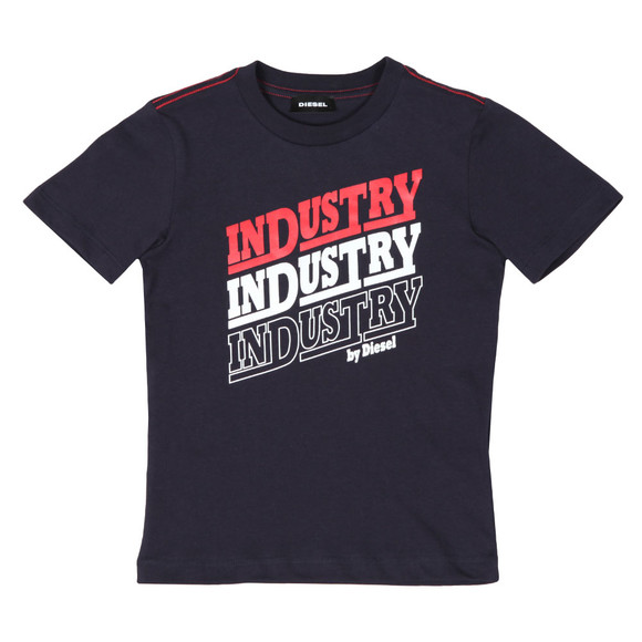 Diesel Boys Blue Large Logo T Shirt main image