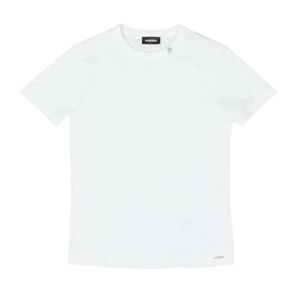 Diesel Boys White Boys Tocle T Shirt