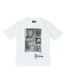 Diesel Boys White Twir Over T Shirt