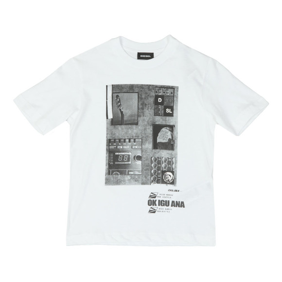 Diesel Boys White Twir Over T Shirt main image