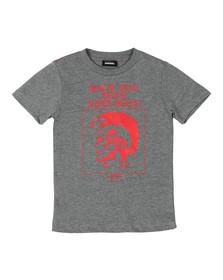 Diesel Boys Grey Man T Shirt