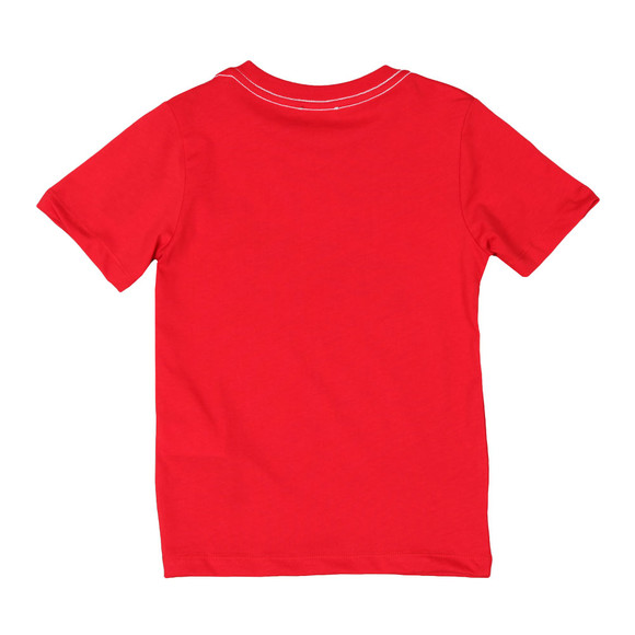 Diesel Boys Red Large Logo T Shirt