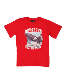 Diesel Boys Red Toshe T Shirt