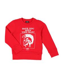 Diesel Boys Red Man Sweatshirt