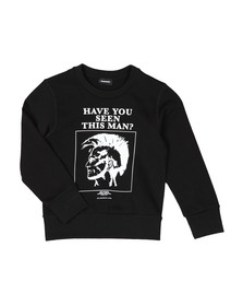 Diesel Boys Black Man Sweatshirt