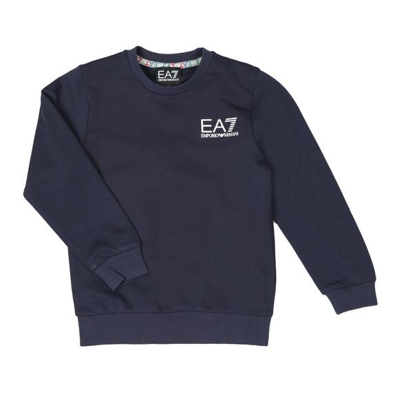 EA7 Emporio Armani Boys Blue Crew Neck Sweatshirt main image