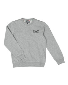 EA7 Emporio Armani Boys Grey Crew Neck Sweatshirt