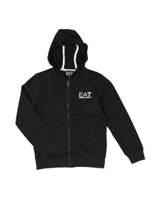 EA7 Emporio Armani Boys Black Boys Small Logo Full Zip Hoody