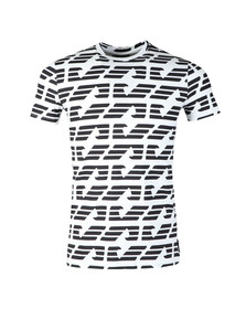 Emporio Armani Mens White Allover Large Eagle T Shirt