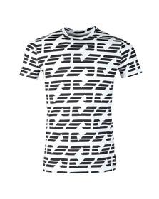 Emporio Armani Mens White Allover Large Eagle T-Shirt
