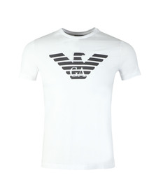Emporio Armani Mens White Large Eagle Logo T Shirt
