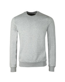 Emporio Armani Mens Grey Small Logo Crew Sweatshirt