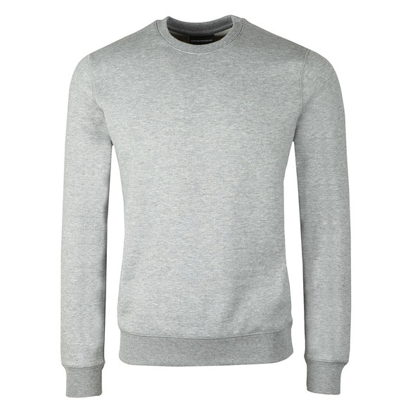 Emporio Armani Mens Grey Small Logo Crew Sweatshirt main image
