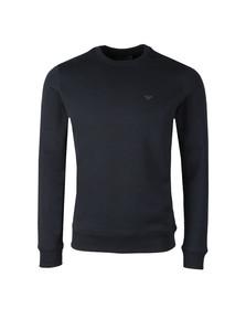 Emporio Armani Mens Blue Small Logo Crew Sweatshirt