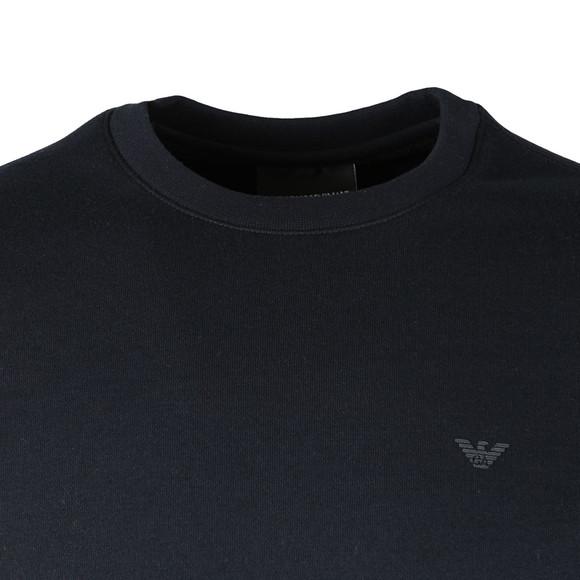 Emporio Armani Mens Blue Small Logo Crew Sweatshirt main image